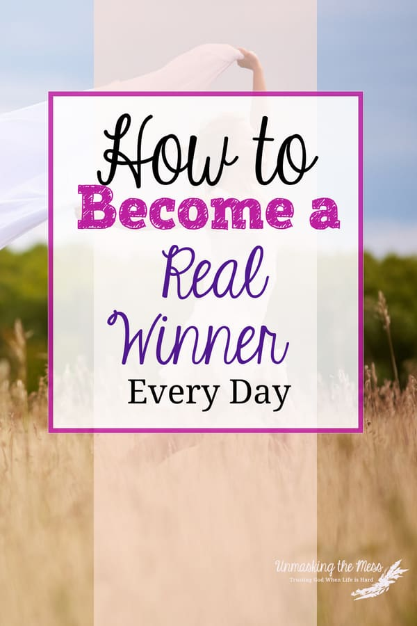 How to Become a Real Winner Every Day.I dislike making all these mistakes. Sometimes I wish someone else could just pick me up by my bootstraps and do the hard work for me. Learn how to become the real winner in God every day. #realwinner #faith #God #christian #godswill