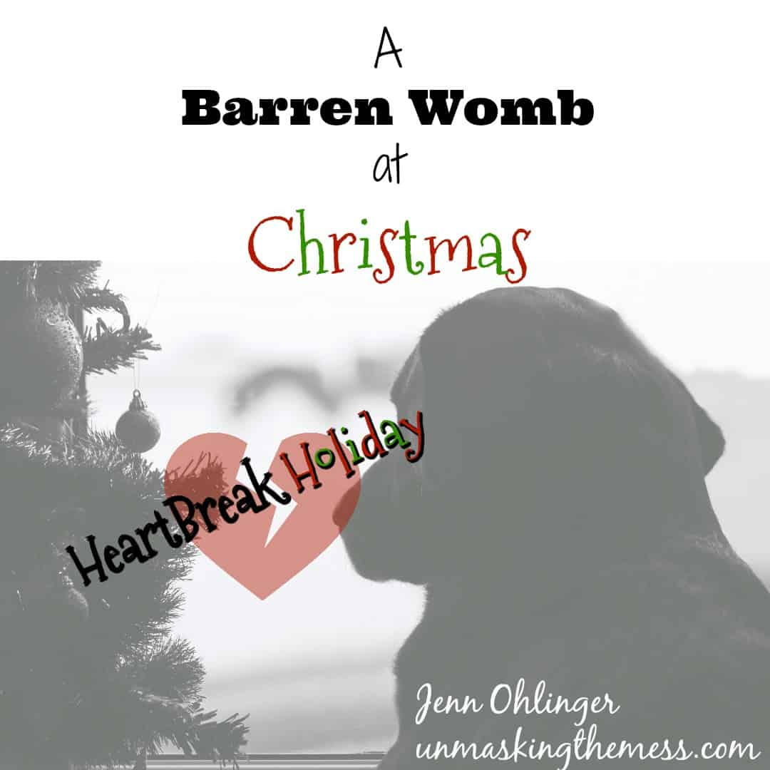 A Barren Womb #HeartBreakHoliday. Christian blog post about the sadness and depression infertility brings. Encouragement and hope for mothers trying to cope! Tips and inspiration through Scripture and Bible verses. Find prayer and help.