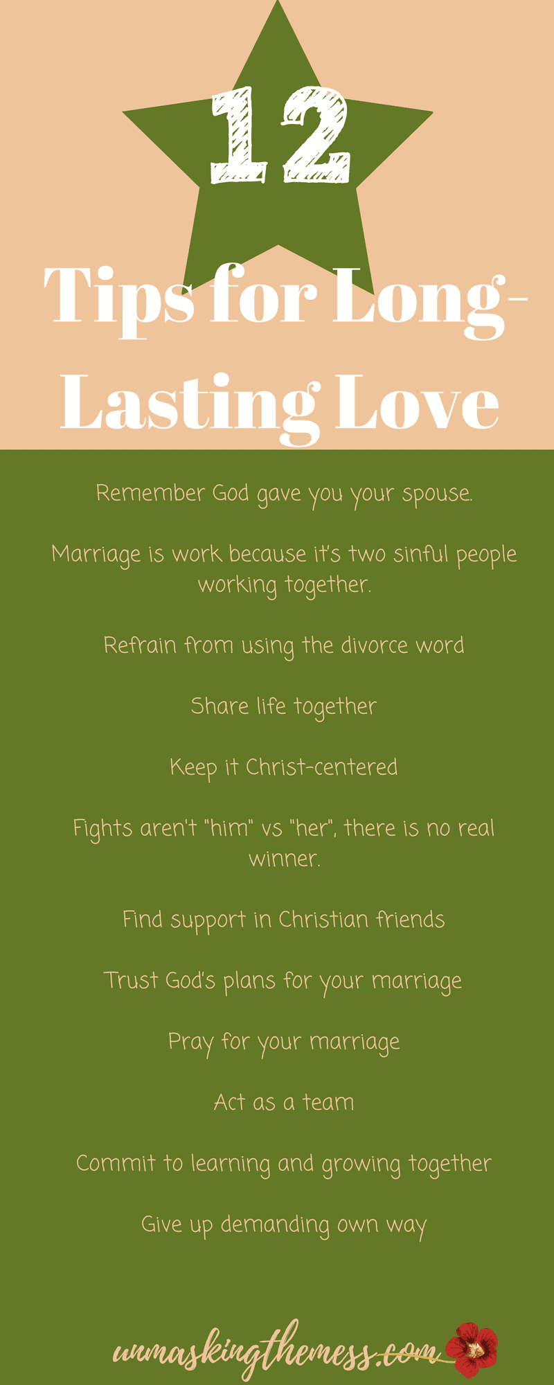 12 Ultimate Tips for Long-Lasting Love.In our culture, it's a struggle to remain in a long-lasting marriage. Death was intended to be the end of the marriage covenant. #quotes #truths #God #articles #God