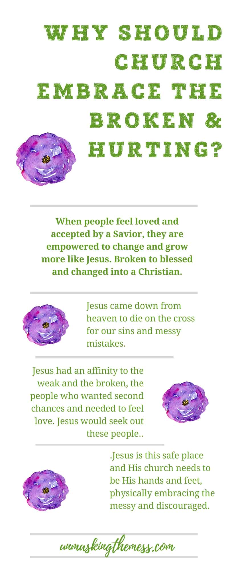 Why the Most Broken and Hurt People Need to be at Church. Christian churches and outreach. How do we welcome others in? Make church a place families want to be. Accept everyone now broken, messy and hurt and see what Jesus can do. We need to embrace others with open arms. #truths #sad #feelings #people #church