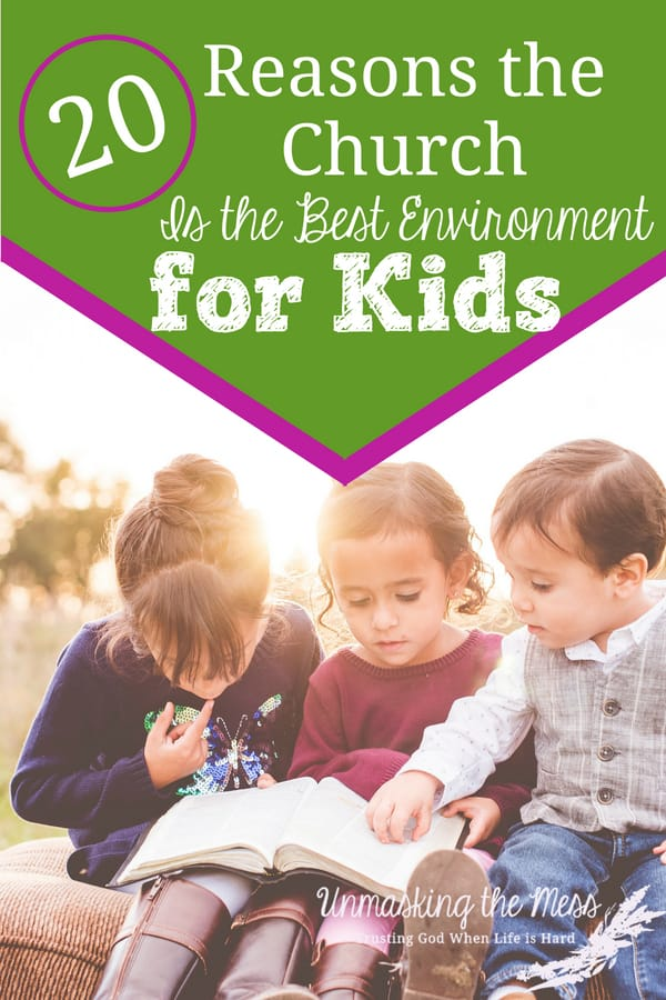 20 Reasons Church is the Best Environment for Kids. Teaching our kids why they need church. What can they learn there? How does church help in life? Ideas, quotes and tips on church for kids. #quotes #childrensministry #objectlessons #goodideas #church