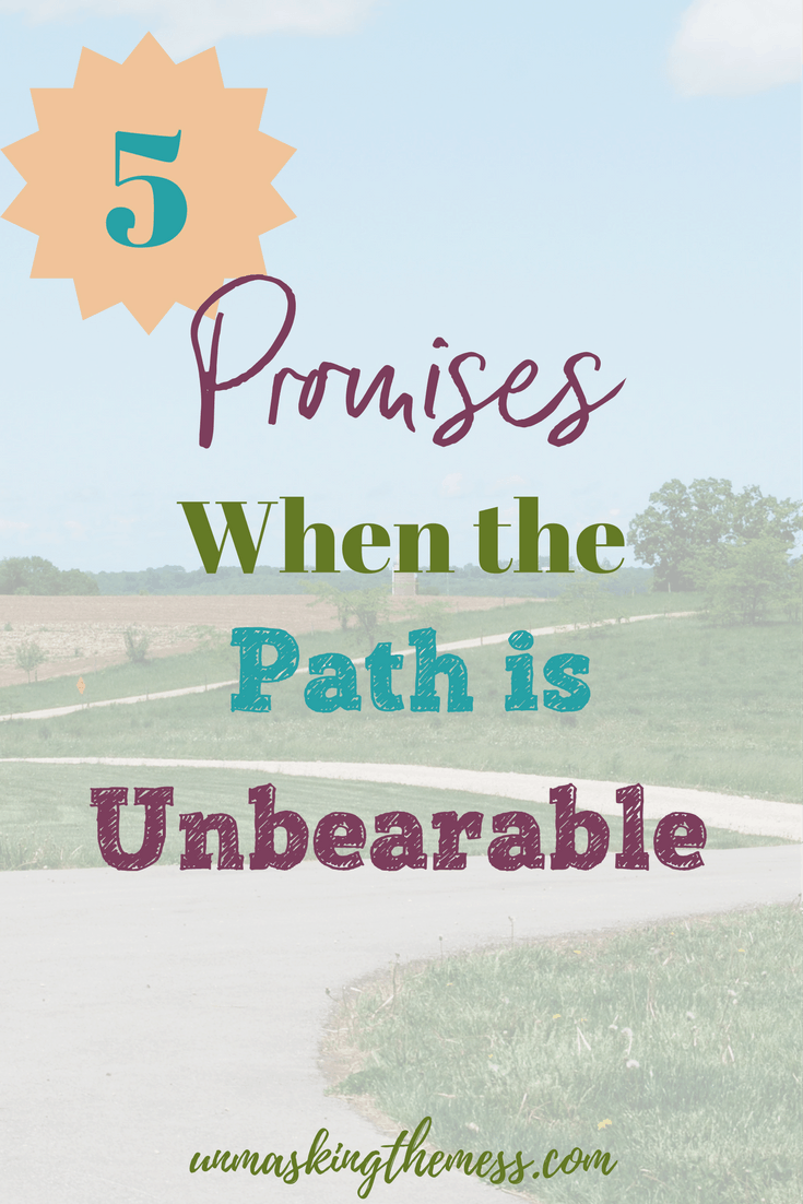 5 Promises When Life is Unbearable. Struggling when it gets hard. Ready to throw in the towel? Find God's promises when the hard seasons come upon us. Grasp hold of God's provisions and strength.