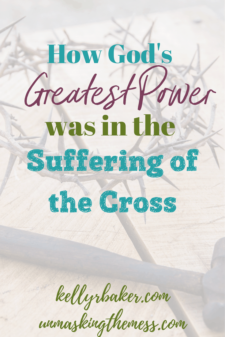 How God's Greatest Power was in the Suffering of the Cross. The death of Christ on the cross. The love Jesus had for us and the facts of the nails and the crucifixicion. The illustration of the women at Easter. The lessons and images of what the Romans did to our Lord on the cross for our eternal life.