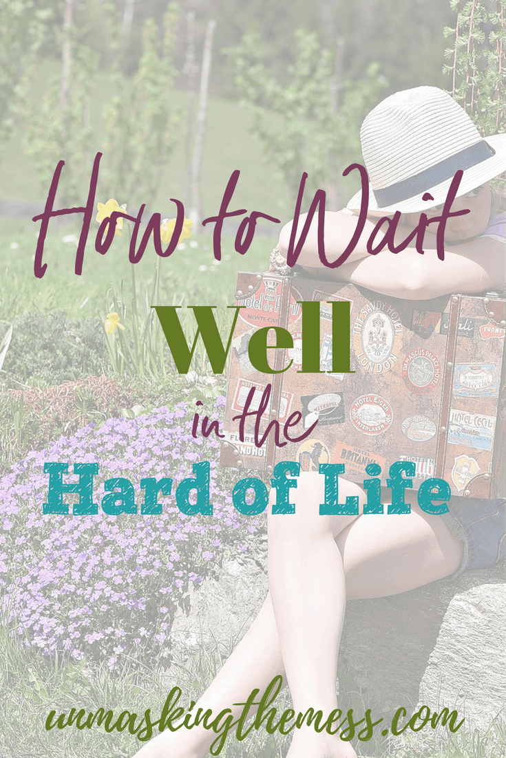 How to wait well in the hard of life. Tired of waiting on God for something to happen? When it's hard, it's easy to be impatient and continue to be still. Tips for women with Scripture on waiting in the struggles