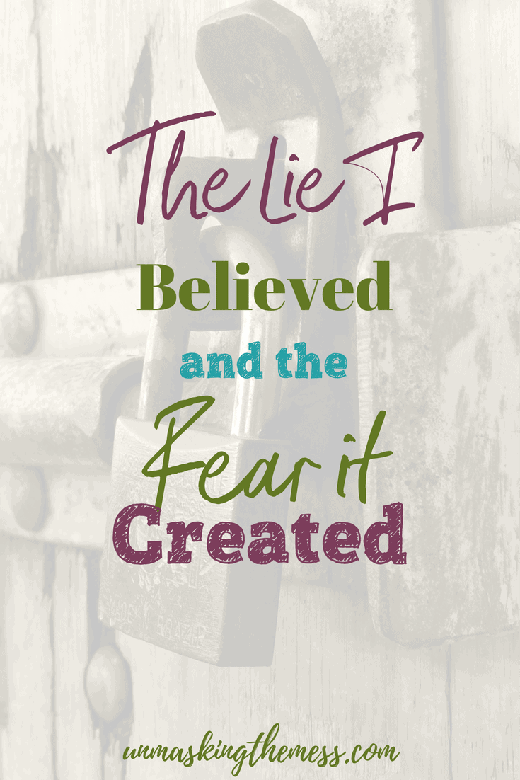 The Lie I Believed and the Fear it Created. Overcoming fear and the lies you believe by using Bible Verses and quotes. Fear anxiety doesn't have to hold you captive any longer.