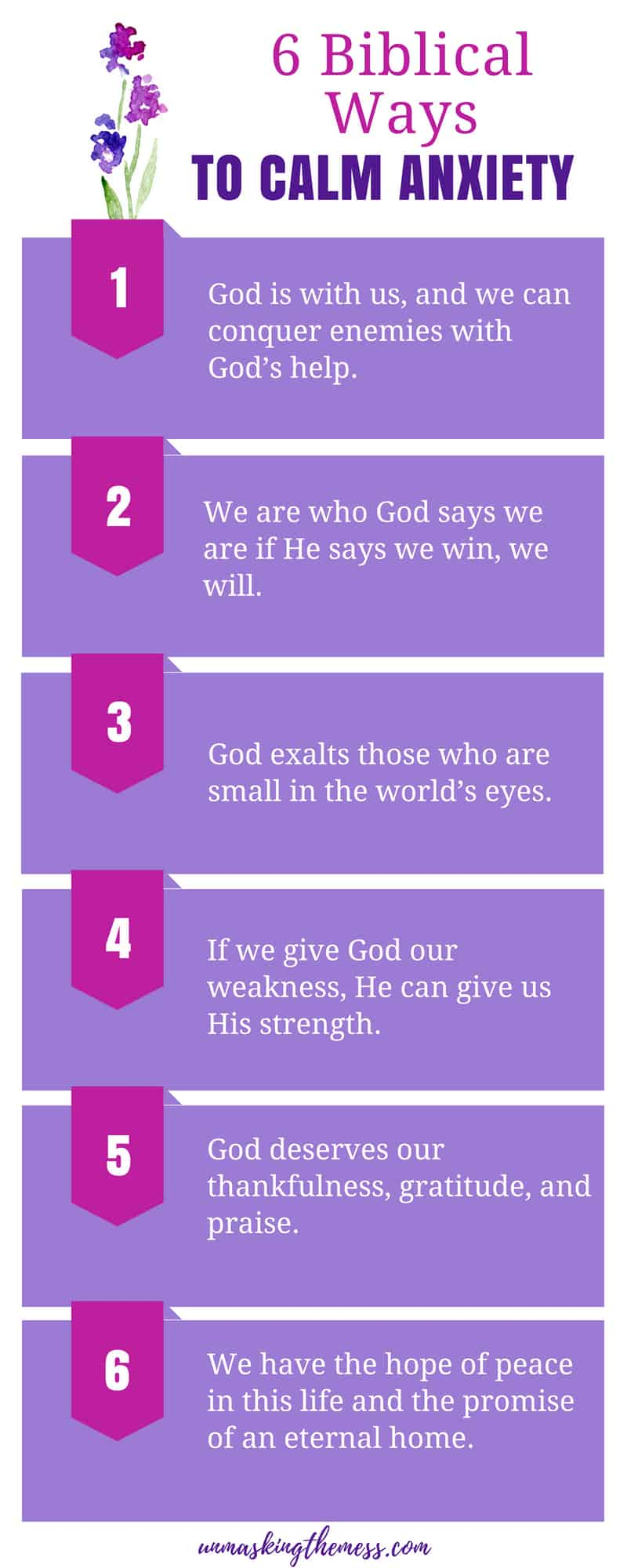 6 Biblical Ways to Calm Anxiety. The Bible and Anxiety- How God Delights in the Underdog. When suffering from anxiety, it's hard to focus on anything else. Do you feel bound by our anxiety? Check out these Bible verses about anxiety. #bibleverses #tips #relief #overcoming #faith