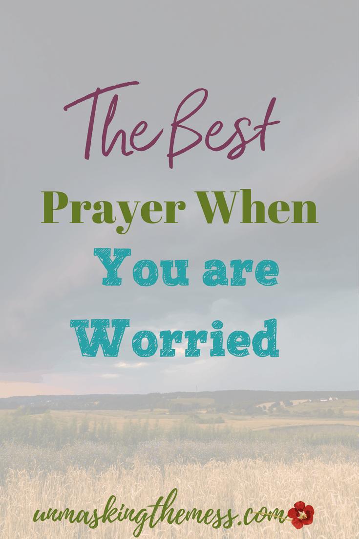 a worry prayer