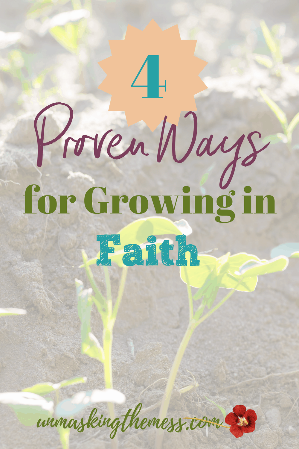 4 Proven Ways for Growing in Faith. Faith growth doesn't happen by itself. We can't make it grow without God's help. Are you relying on yourself or growing in faith with God?