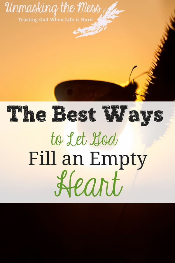 The Best Ways to Let God Fill an Empty Heart:God, Please Help Me. I'm a hoarder. I try to fill myself up with things, feelings, success because I foolishly believe it will make me happy. I need God, He can only fill me. #Jesus #scriptures #truths #myheart