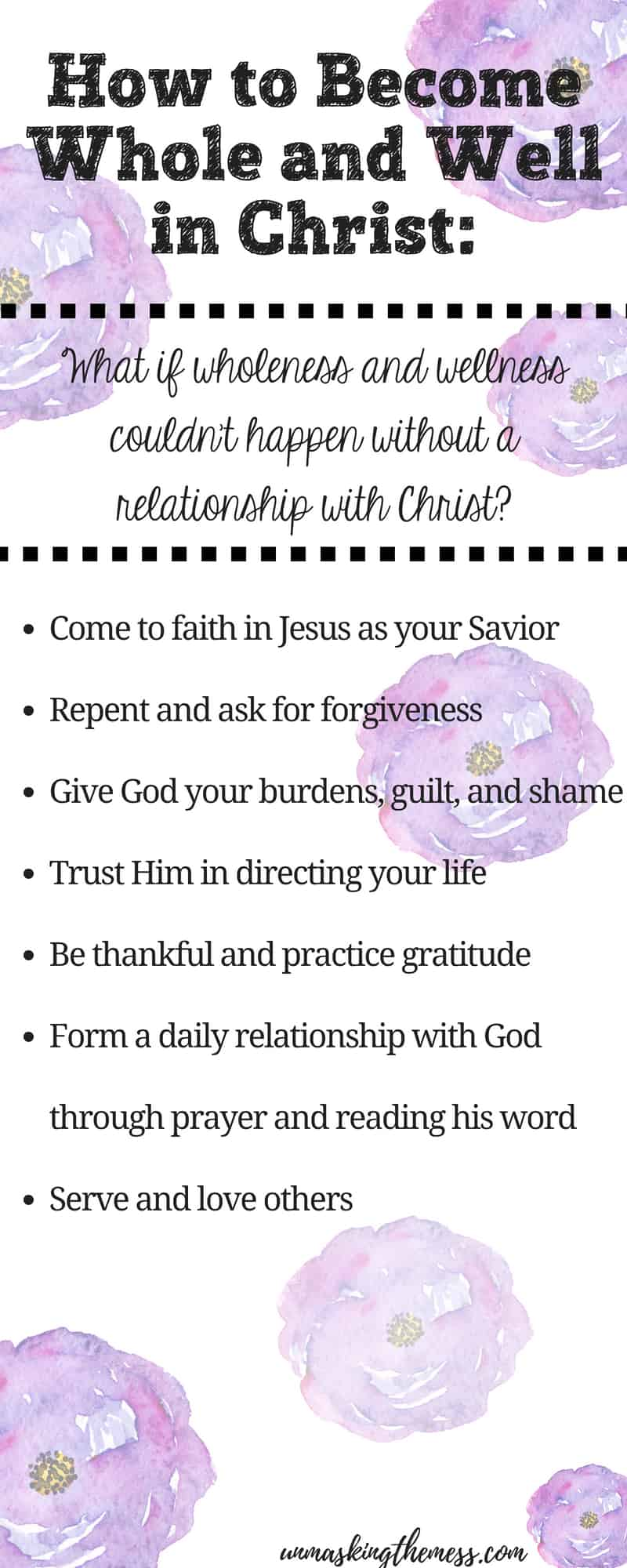 Seven Powerful Ways to Breakthrough to Healthy and Well Living. What if I said wellness and wholeness couldn't happen without a relationship with Christ? We can be well when we use these healing verses as an example. #strength #faith #healingverses #posts