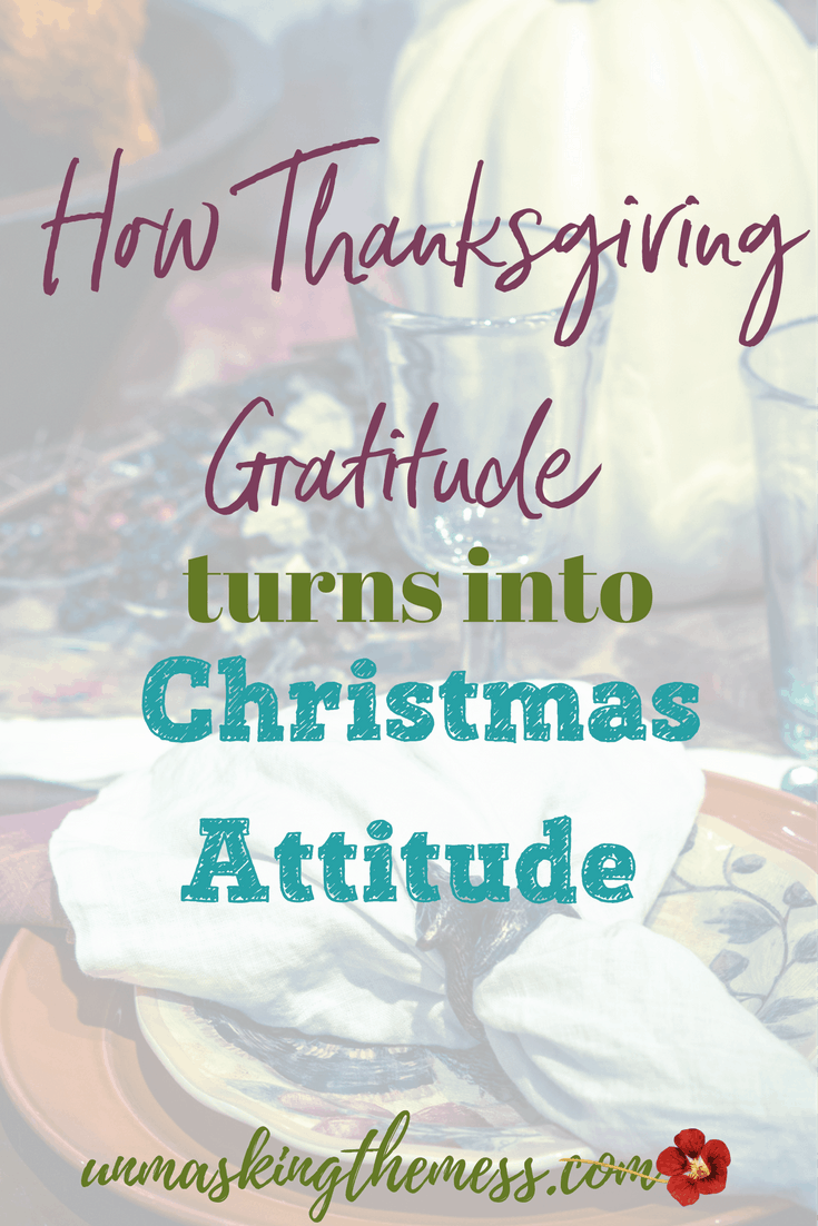 How Thanksgiving Gratitude turns into Christmas Attitude. A feeling of blessing hours was before becomes a self-centered focus to try and beat others to our gadgets and goodies. How did our attitude change?