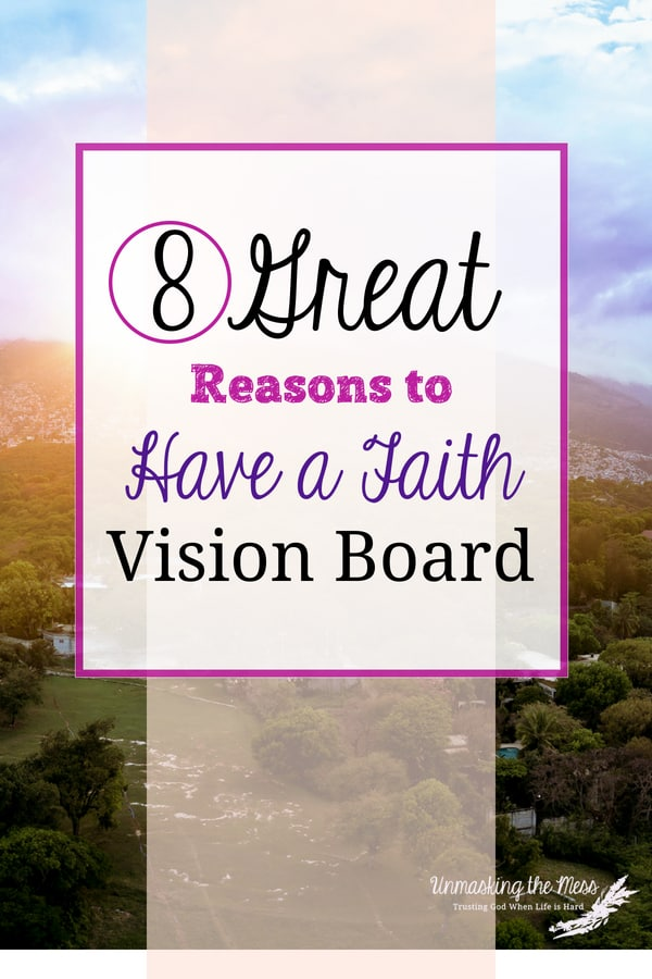 Eight Great Reasons to have a Faith Vision Board. I get so caught up in what I see and then I assimilate it into the truth of what my eyes tell me. I'm suffering from tunnel vision most days, and I succumb to a wrong perspective. #howtocreatea #ideas #DIY #faith #examples