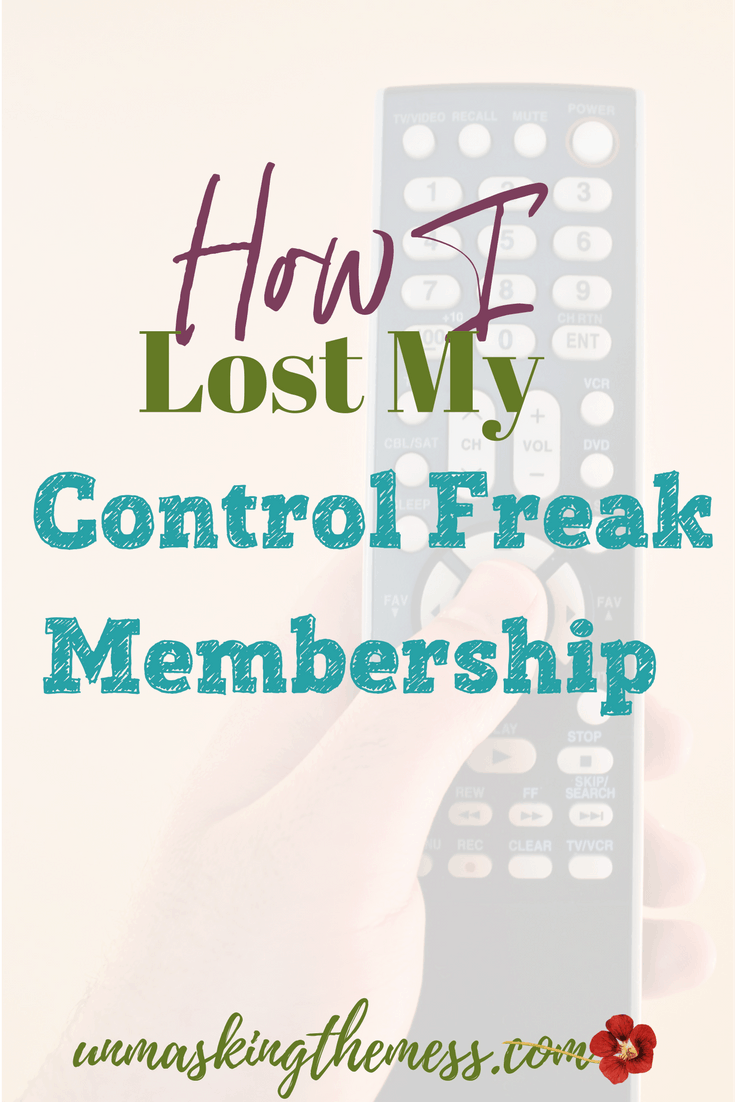 How I Lost My Control Freak Membership. I have an issue with control. I don't always feel like God has thought through the problem. He might be missing something. #control #controlfreak #anxiety #stress #letgo
