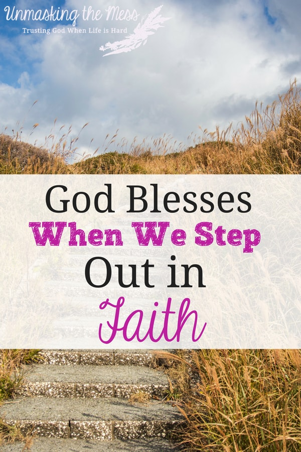 How God Blesses When We Step Out in Faith. Do you believe God will bless you when you step out in faith? Why do we shrink back and think we will become such a failure if we have God on our side? #inspiration #Jesus #comfortzone #Christ