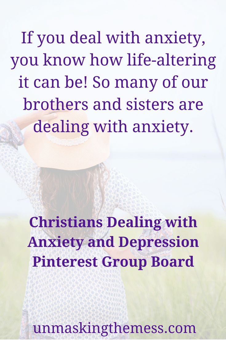 Christians Dealing with Anxiety and Depression Pinterest Group Board. Do you deal with anxiety or depression? Are you looking for tips and relief to overcome them? Find encouragement and inspiration on this Pinterest group Board. #anxiety #depression #anxietyrelief #overcominganxiety