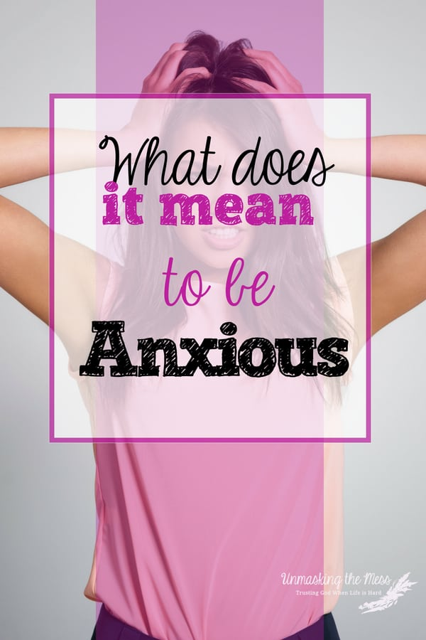 "What does it mean to be anxious? ""Do Not be Anxious,"" what does this mean? How do we live in a world full of scary, hard things and not have anxiety? The Bible has resources for us. #anxietyrelief #anxiety #anxietyattacks #panicattacks"