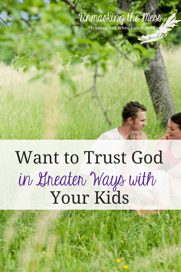 Is it hard for you to trust God with your kids? Through Bible stories, we can see how God can be trusted! God has good plans for us and our kids! #Christianparenting #christian #tips #advice #ideas #bibleverses