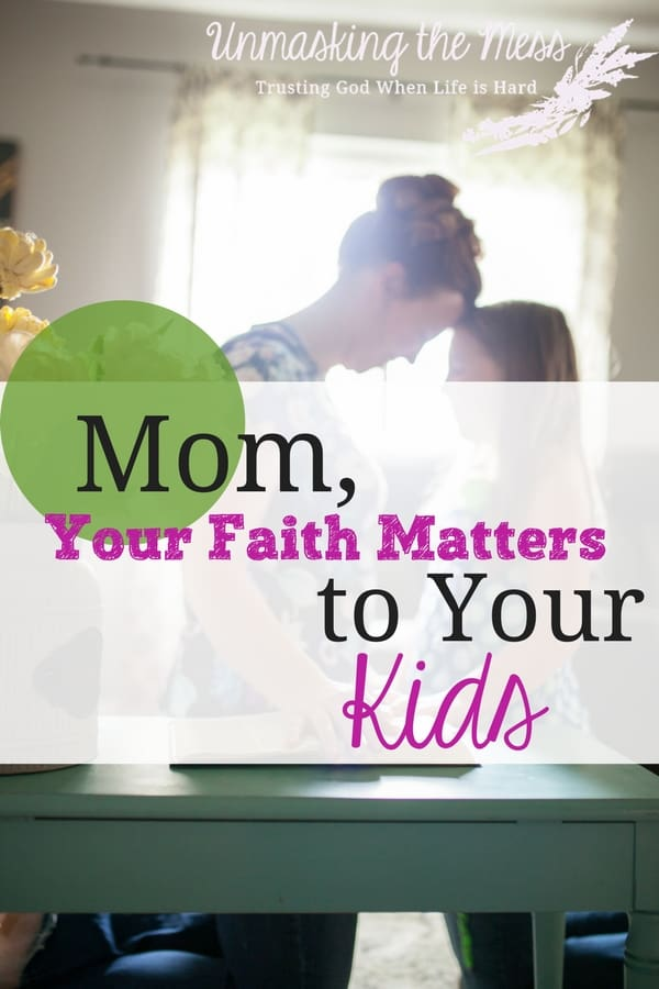 Mom, Your Faith Matters to Your Kids.  Our faith in God as mothers shows our devotion to Christ, what we think is the best isn't always God's best and our legacy of faith extends farther into the future then we can imagine. Following the example of Salome, a Biblical woman of influence, we can make our faith matter. #moms #Christian #kids #faith #God